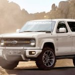 2020 Ford Bronco front three quarters rendering