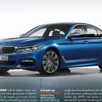 BMW 5 Series 2017 side blue leaked