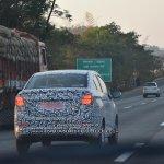 Chevrolet Beat Essentia sedan rear quarter spied testing