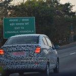 Chevrolet Beat Essentia sedan taillamps spied testing