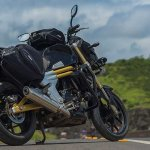 Mahindra Mojo Tourer Edition rear three quarters static