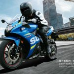 Suzuki GSX-250R in MotoGP livery front three quarters