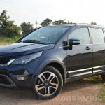 Tata Hexa XT MT front quarters Review