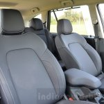Tata Hexa XT MT front seats Review