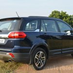 Tata Hexa XT MT rear quarter Review