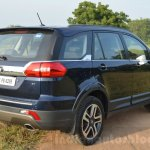 Tata Hexa XT MT rear three quarter Review