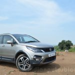 Tata Hexa XTA AT front quarter Review