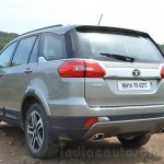 Tata Hexa XTA AT rear quarter Review