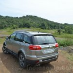 Tata Hexa XTA AT rear quarters Review