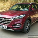 2016 Hyundai Tucson red front quarter Review