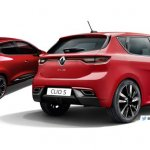 2016 Renault Clio vs. 2018 Renault Clio (rendering) rear three quarters