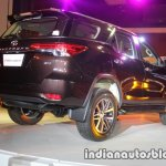 2016 Toyota Fortuner rear three quarter launch live