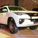 2016 Toyota Fortuner white front quarter launch