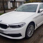 2017 BMW 5 Series 530e iPerformance white front three quarters Munich