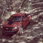2017 Chevrolet Colorado ZR2 front three quarters left side off-roading