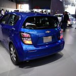 2017 Chevrolet Sonic Hatchback rear three quarters at 2016 Bogota Auto Show