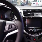 2017 Chevrolet Sonic interior centre console at 2016 Bogota Auto Show