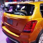 2017 Chevrolet Tracker rear fascia at 2016 Bogota Auto Show