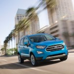 2017 Ford EcoSport (facelift) front three quarters in motion