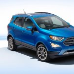2017 Ford EcoSport (facelift) front three quarters studio image