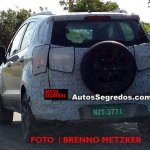 2017 Ford EcoSport (facelift) rear three quarters left side spy shot Brazil