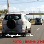 2017 Ford EcoSport (facelift) rear three quarters spy shot Brazil