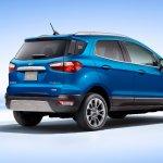 2017 Ford EcoSport (facelift) rear three quarters studio image