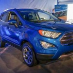 2017 Ford EcoSport front three quarter unveiled live