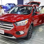 2017 Ford Escape front three quarters at 2016 Bogota Auto Show