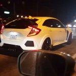 2017 Honda Civic Type R white spy shot