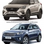 2017 Hyundai Creta vs. 2015 Hyundai Creta front three quarter comparo
