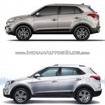 2017 Hyundai Creta vs. 2015 Hyundai Creta side comparo