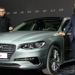 2017 Hyundai Grandeur front three quarters launch