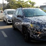 2017 Jeep Compass front spied up close India