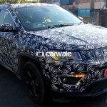 2017 Jeep Compass front three quarter spied up close India