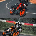 2017 KTM Duke 390 vs. 2013 KTM Duke 390 riding image