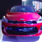 2017 Kia Rio front at the 2016 Bogota Auto Show
