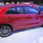 2017 Kia Rio rear three quarter at the 2016 Bogota Auto Show
