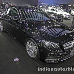 2017 Mercedes E-Class front three quarters right side at 2016 Thai Motor Expo