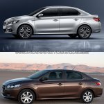 2017 Peugeot 301 vs. 2013 Peugeot 301 left side