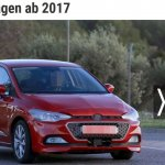 2017 Seat Ibiza red front three quarters spy shot