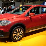 2017 Suzuki S-Cross (facelift) front three quarter at Sao Paulo Auto Show