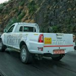 2017 Tata Xenon single cab pick-up rear spied