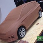 2017 VW Polo front quarter alleged clay model