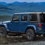 2018 Jeep Wrangler Unlimited blue back glass opened rendering