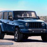 2018 Jeep Wrangler Unlimited blue front three quarters rendering