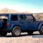 2018 Jeep Wrangler Unlimited rear three quarters left side rendering