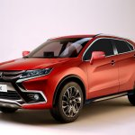 2018 Mitsubishi ASX front three quarters left side rendering