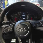 Audi Q2 steering wheel at Bogota Auto Show 2016
