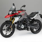 BMW G 310 GS front three quarters studio image